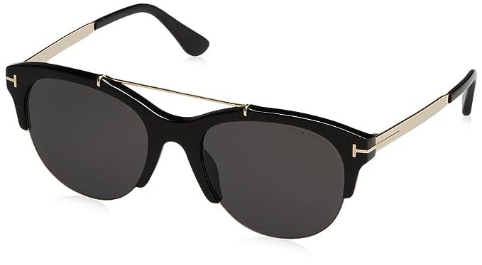 Tom Ford Damen Sonnenbrille »Adrenne FT0517«, schwarz, 01A - schwarz/grau