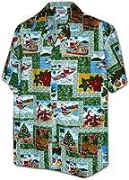 Pacific Legend Paradise Santa Christmas Hawaiian Shirts