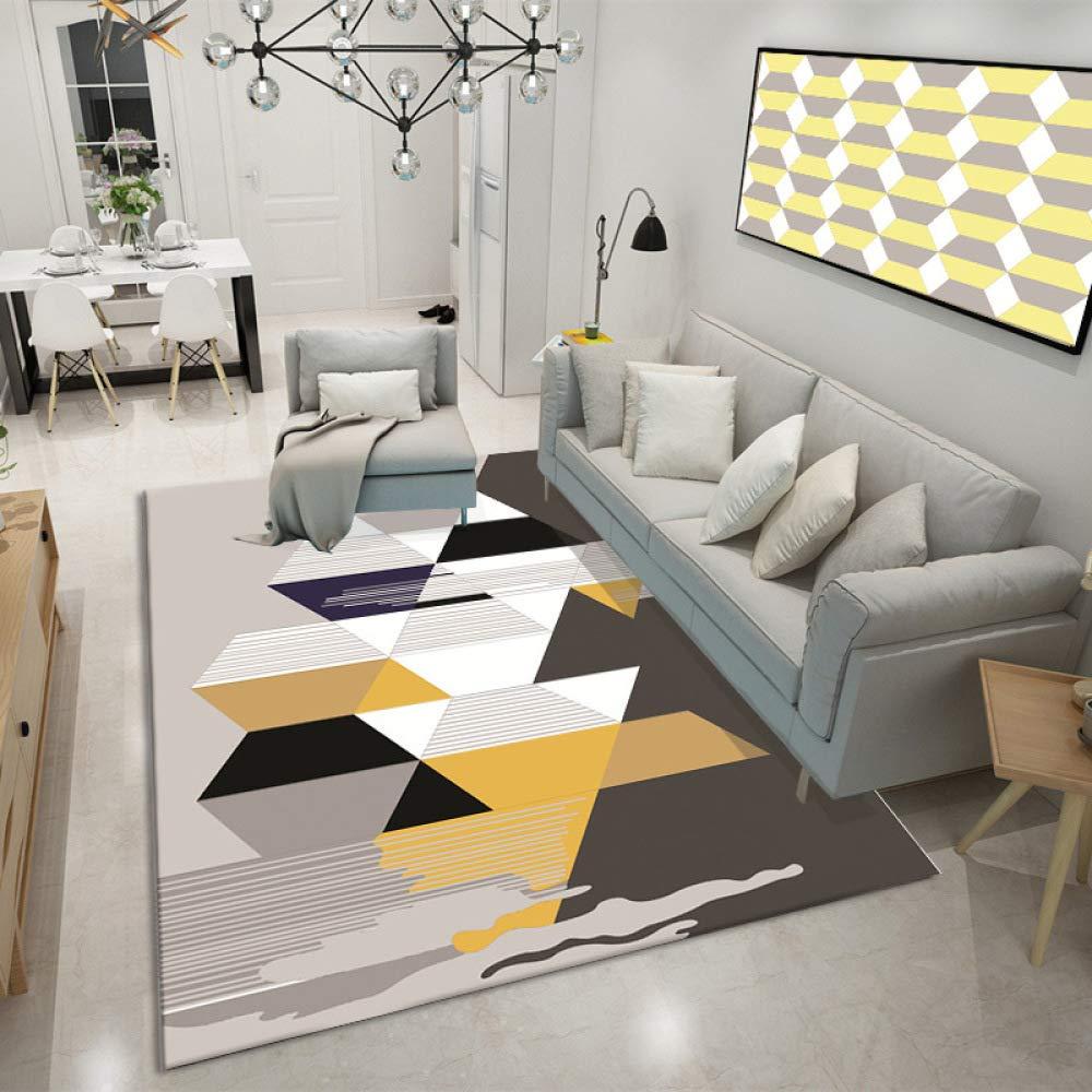 Geometrisches Drucken und F/ärben Wohnzimmer Teppich Wohnzimmer Baby Krabbeln Matte kann maschinensicher Sein Null Formaldehyd 10 Farbe 40 60cm