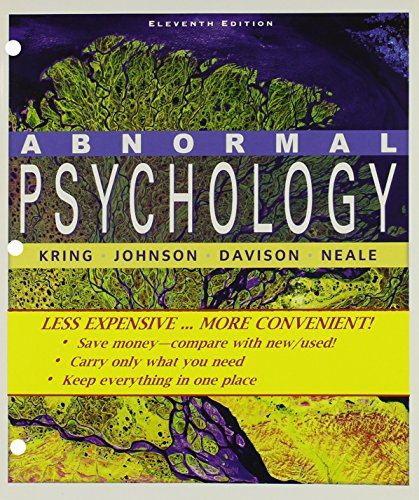 Abnormal Psychology Eleventh Edition Binder Ready Version