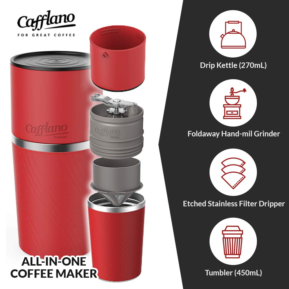 Cafflano All-in-One Portable Pour Over Coffee Maker for ...