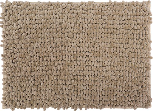 Casale Home 847431000328 New Cut & Large Loop Microfiber Chenille Area Rug, 4x6', Beige