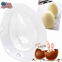 Large Size Easter Egg Molds, 3D Dinosaur Egg Chocolate Mold Giant Ostrich Egg Chocolate Cake Fondant Mould Baking Sugar Craft Decorating Mold Tool.(1, Aw-white)