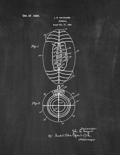 Frame a Patent Pizarra con diseño de Patentes de fútbol (40 ...