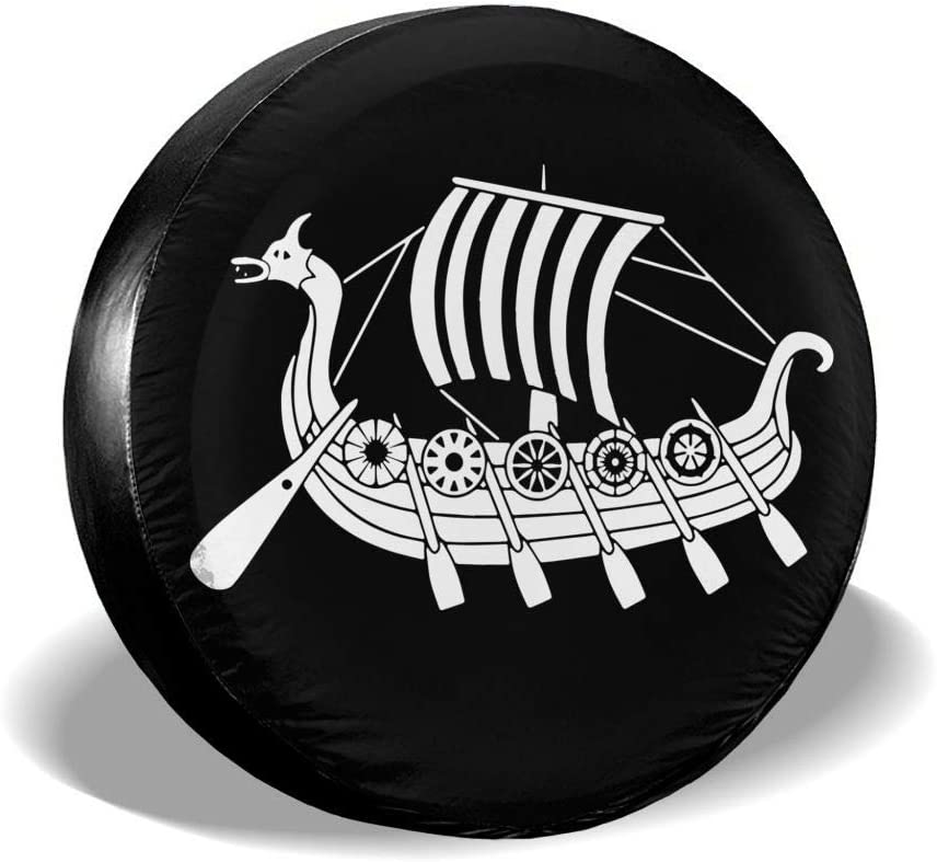 Amazon Com Yilad Viking Ship Spare Tire Cover Waterproof Dust Proof Universal Spare Wheel Tire Cover Fit For Jeep Trailer Rv Suv And Many Vehicle Automotive