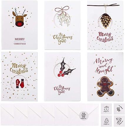 Joyeux Noël Autocollants Or sur clair étiquettes Cartes Enveloppes Craft xgcfoil 3