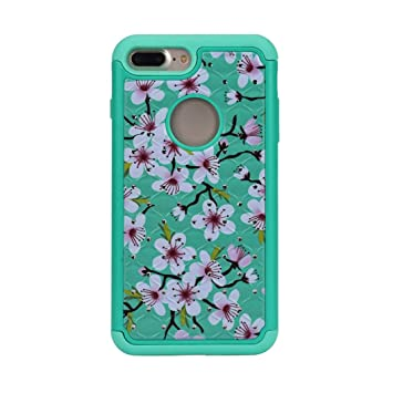 Amazon.com : For iPhone 7 Plus Case, Voberry Hybrid Soft Rubber Skin Case Cover For iphone 7 Plus 5.5inch (Mint Green) : Beauty