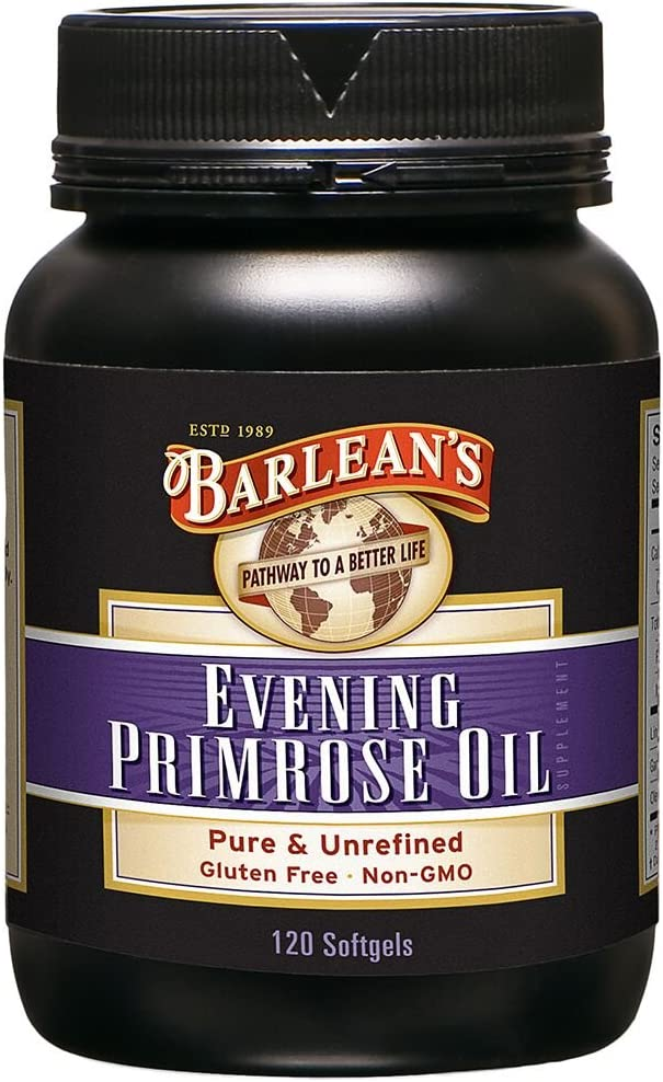 Barlean's Organic Oils Organic Evening Primrose Oil, 120 softgels/1300 mg ea. Bottle: Health & Personal Care