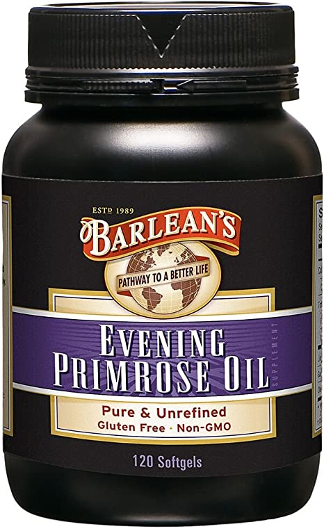 Barleans Organic Oils Organic Evening Primrose Oil, 120 softgels/1300 mg ea. Bottle