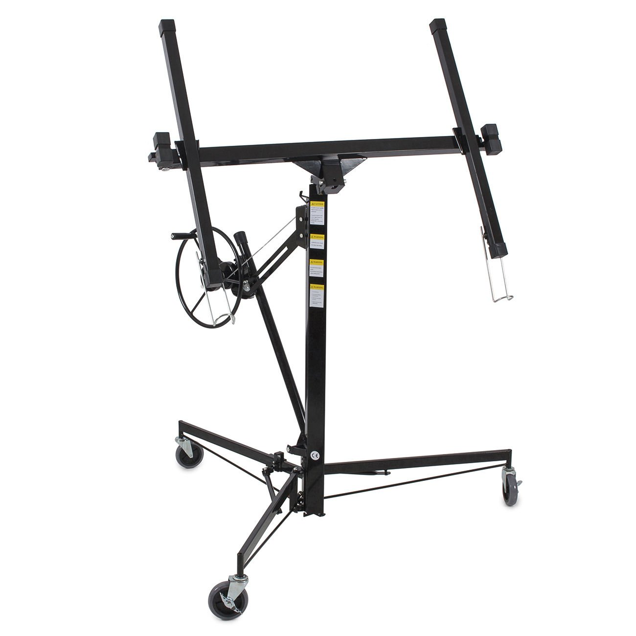 11' Drywall Lift Panel Hoist Dry Wall Jack Rolling Caster Lifter Lockable Black + FREE E - Book
