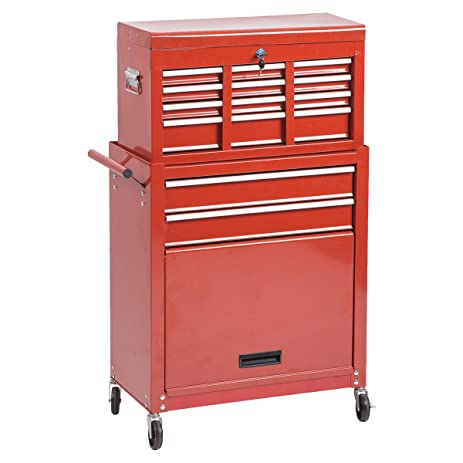 Amazon.com: Portable Tool Chest Rolling Toolbox Storage Cabinet ...