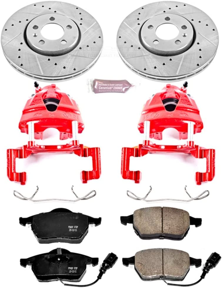 Power Stop KC898 1-Click Performance Brake Kit with Caliper Front Only