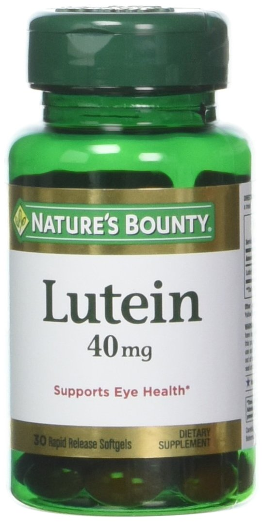 Nature's Bounty Lutein 40 Mg, 30-Count, Pack of 4