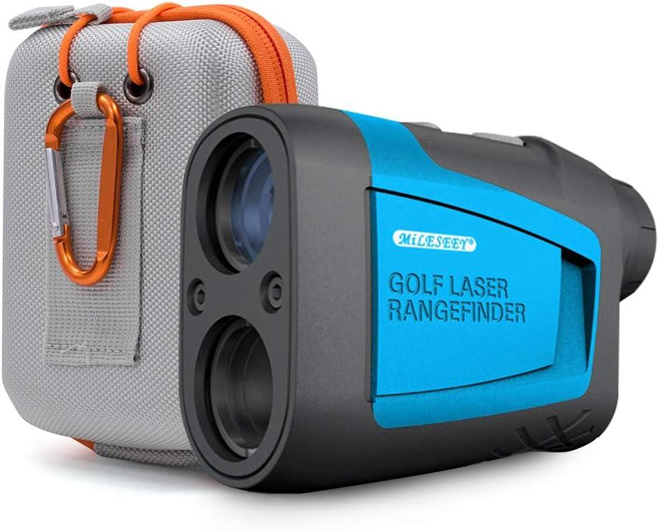 AIXZ Golf Rangefinder 6X Laser Range Finder 656 Yards Flag-Lock Slope Tech 4 Scan Mode Linear & Vertical Distance Angle & Speed Measurement, Fog Resistant