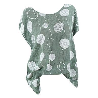 b8b32479112 HIKO23 Women Plus Size Clothing 2019 Spring Summer Casual Shirt Boho Loose  Linen Blouse Tops Tunics