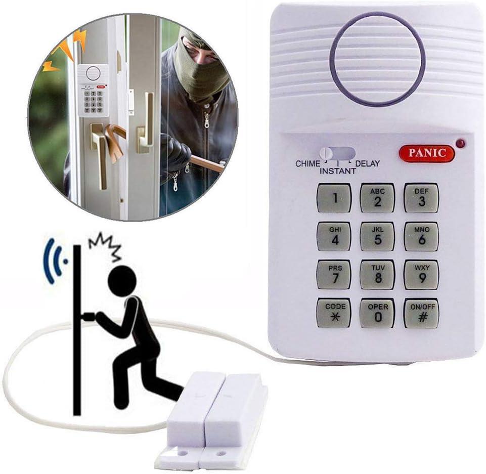 Wireless Panic Alarm with Security Keypad for Garden Shed Garage Door Window