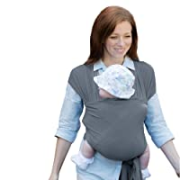 Izmi Wrap, Made From Soft Bamboo, Ideal For Newborns, Mid Grey