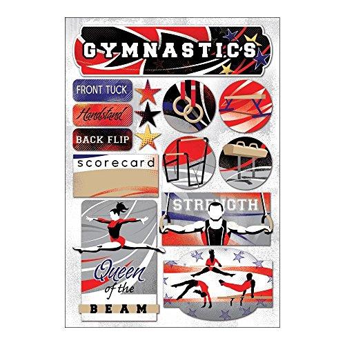 - Sticker Scrapbooking Crafts Karen Foster Gymnastics Queen Beam Scorecard Flip