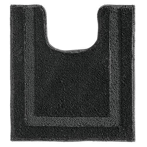 InterDesign Microfiber Polyester Bathroom Spa Contour Rug - Black, from InterDesign