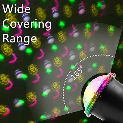 VICKY-HOHO - Proyector LED para Halloween, b (Negro) - VICKY-HOHO ...