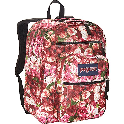 ราคาต่ำสุด JanSport Big Student Backpack- Discontinued Colors (Multi Vintage Rose)