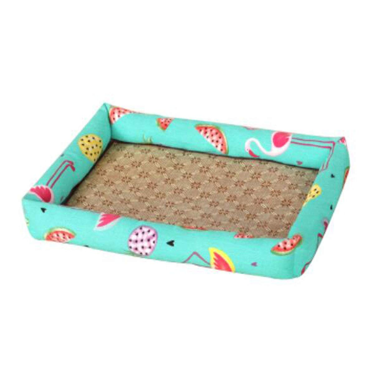 Blue XL blue XL Jiansheng Dog Bed, Spring Large and Medium Dogs and Cats Orthoppidics with Mat Sleeping Mat Bed, Can Be Posited on the Floor Car Dog Dog, Purple, Blue, Yellow XL (Colore: Blue, Dimensione: XL)