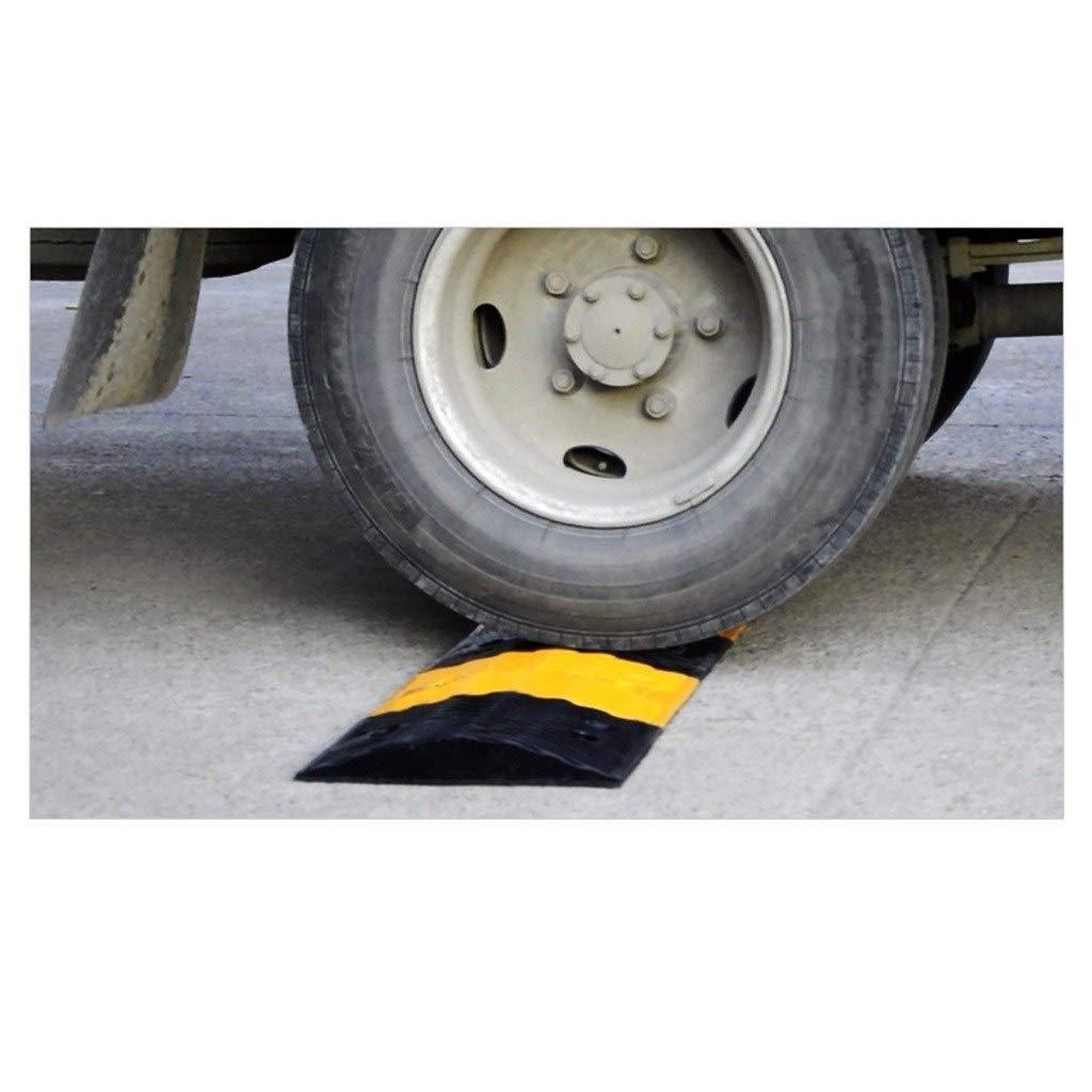 Negro//Goma Amarillo del l/ímite de Velocidad Zona de amortiguamiento de Caucho for Trabajo Pesado Escuela Rampas Rampas de Seguridad Vial 5-7cm Velocidad Bump Size : 100 * 38 * 5CM