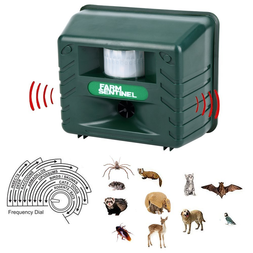 QingYou Repel Animal Ultrasonic Outdoor Pest Repellent, Animal Pest Repeller Pest Control with Motion Detector Rodents, Cats, Rats, Mouse, Mice