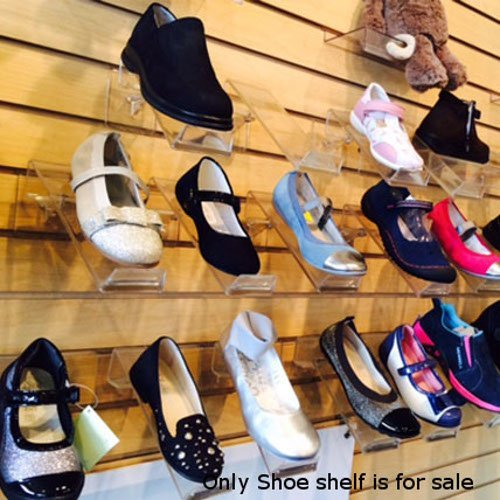 New Acrylic Swivel Shoe Shelf with Toe Stop, Measures: 3†in W x 13†in. L, Count: Pack of 50