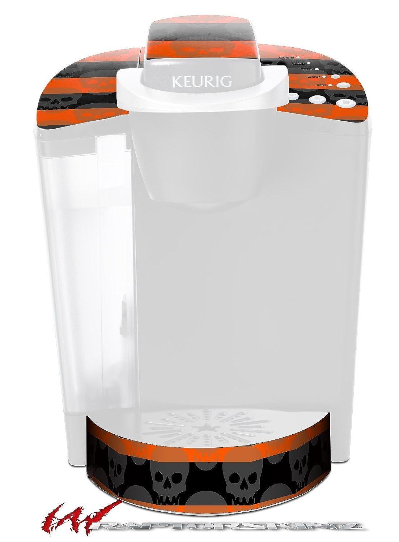 スカルストライプオレンジ – デカールスタイルビニールスキンFits Keurig k40 Eliteコーヒーメーカー( Keurig Not Included )   B017AKC49M