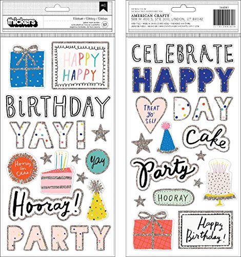 Crate Paper 344581 Celebrate Thickers, Multicolor
