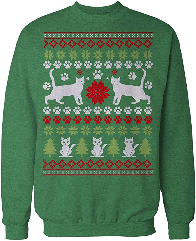 Meowy Christmas Ugly Christmas Sweater Weihnachten Pfote Katze Frauen