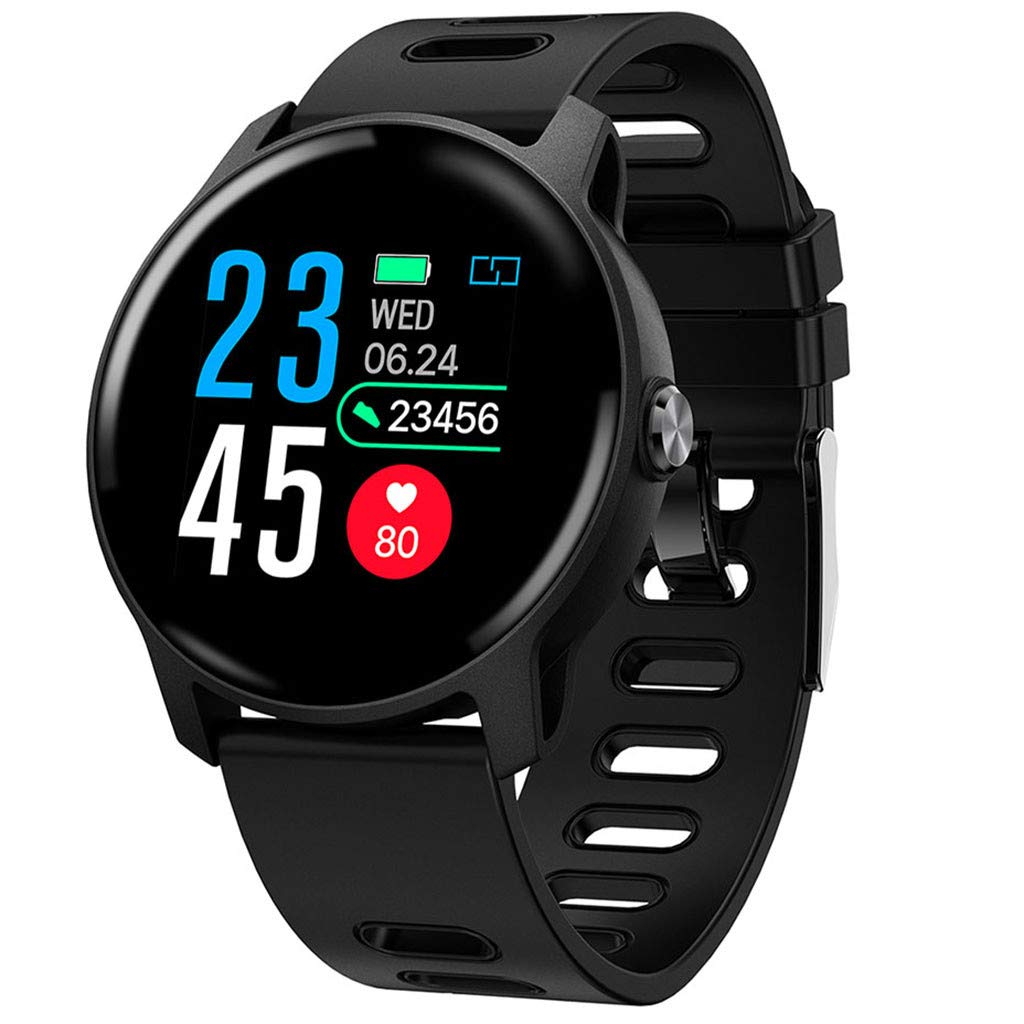 For Android & iOS, Waterproof Sport Smart Watch Fitness Heart Rate Tracker Blood Pressure Calorie Monitor Smart Bracelet (Black) by YNAA (Image #1)