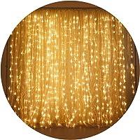 Cortina 3m X 2m 300 Leds Fixa - 110v Branco Quente (Luz Dourada)