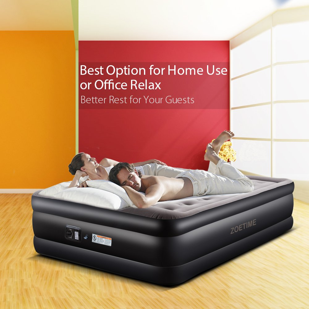 zoetime upgraded queen air mattress double blow up. Black Bedroom Furniture Sets. Home Design Ideas