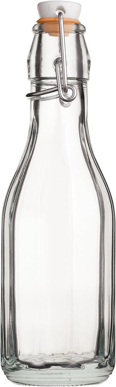 Kitchencraft Botella con Cierre Palanca, Cristal, Blanco, 6x6x20.8 cm