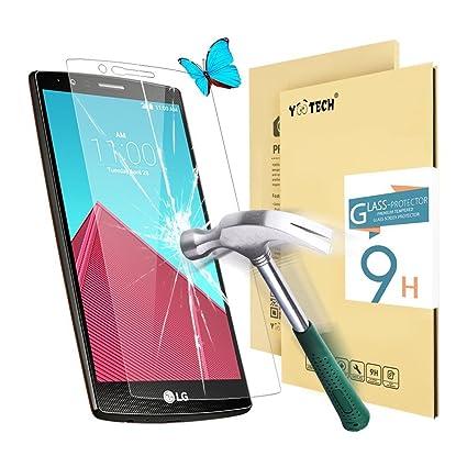 lg g4 screen protectoryootech lg g4 tempered glass screen protector03mm 9h amazoncom tempered glass