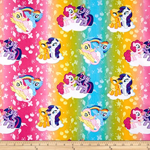 Springs Creative Products Hasbro My Little Pony Ombre Toss Multi Fabric by The Yard