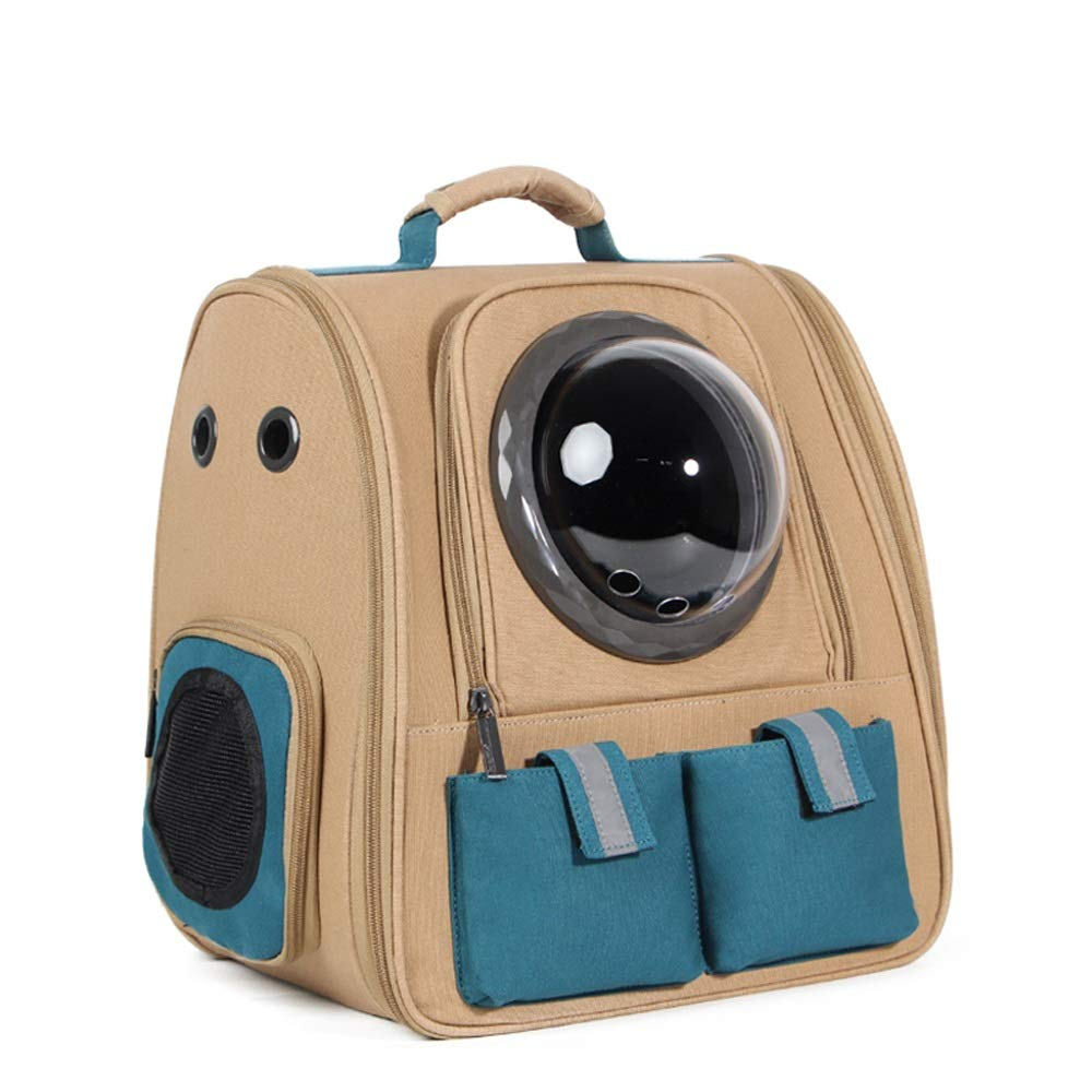 E TSDS Outing Pet Backpack Portable Pet Space Bag Breathable Cat Dog Cage Car Pet Backpack (color   D)