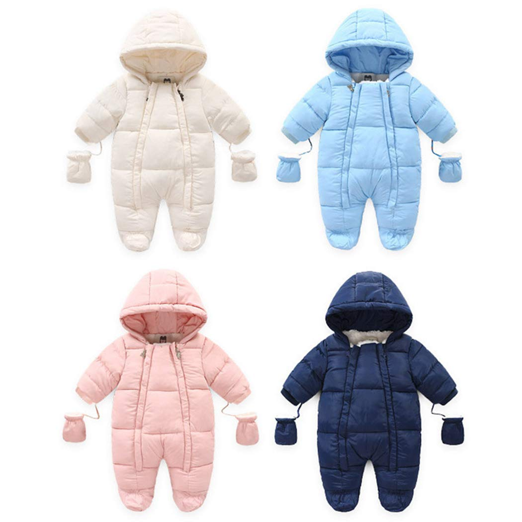 Ohrwurm Toddler's Baby Cotton Blend Down Jacket Solid Fasionable Pajamas Casual Windbreaker Outfit for Winter Fall Automn for 12-18 Months Baby Blue by Ohrwurm