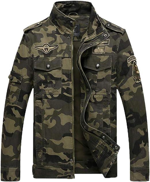 PengGengA Jacke Herren Übergangsjacke Freizeit Camouflage