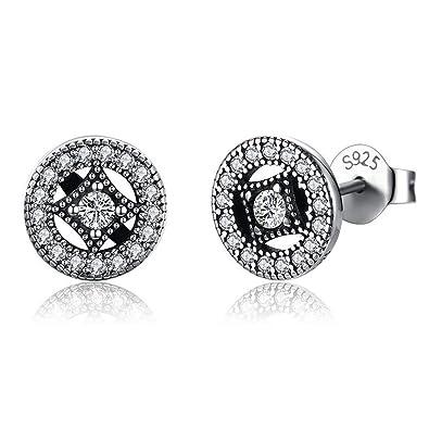 Qiyami Earrings Sencillos Pendientes Aro Joyería Pendientes ...