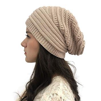 Amazon.com: Sombreros de punto para mujer de color sólido ...