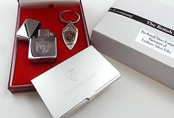 Plaque Argent Voiture Porsche 911 Caymen Boxster Porte Cles A Cle