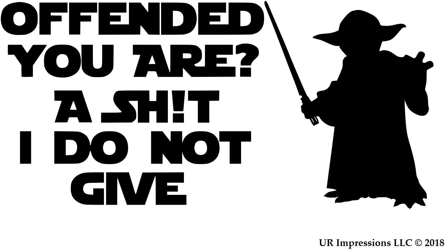 UR Impressions MBlk Offended You are?. Decal Vinyl Sticker Graphics for Car Truck SUV Van Wall Window Laptop|Matte Black|7.2 X 3.6 inch|URI218-MB