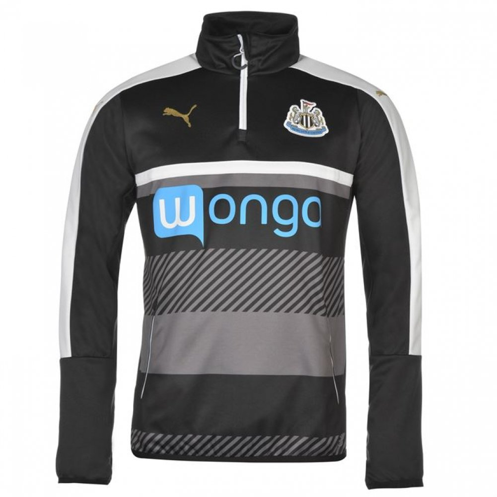 2016-2017 Newcastle Puma Quarter Zip Training Top (Black) - Kids