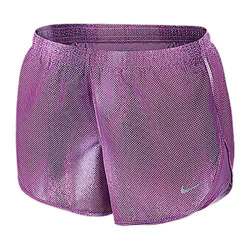 Nike Shorts Modern Embroidedossed Tempo - Pantalones cortos deportivos para mujer Violet - violet shock/reflective silver