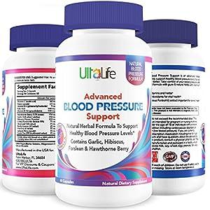 BEST HIGH BLOOD PRESSURE PILLS to Lower BP Naturally - Advanced Hypertension Supplement w/ Potent Vitamins & Herbs - Garlic, Hawthorn Berry & Forskolin for Stress Reduction & Heart Health