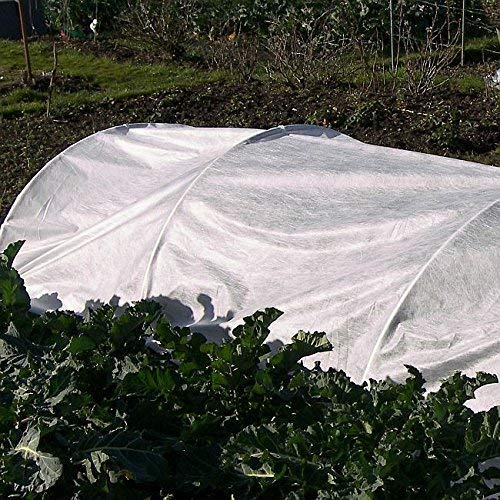 4 m x 5 m Protect Potted Plants From Frost DIY Plant Fleece Prevent Damage From Freezing Cold Weather with White Blanket Cloche Fabric Material Wrap