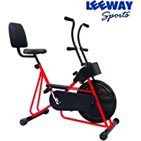 LEEWAY Exercise Cycle with Back Support (Red)